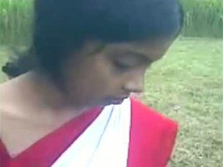 Young indian girl boos sucking at the out doo