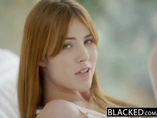 Blacked gwen stark 和 amarna miller 第一 肤色 三人行
