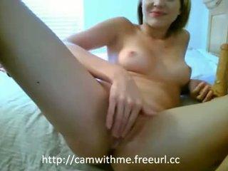 Amatuer amateru tiener blondine tiener masturberen met
