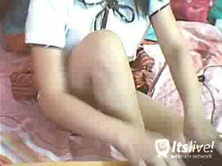 Adolescenta fata stripping și futand film
