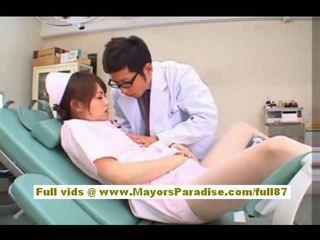 Akiho yoshizawa σέξι ασιάτης/ισσα νοσοκόμα enjoys teasing ο γιατρός