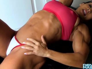 Denise masino - ab crunches σειρά σέξι - female bodybuilder