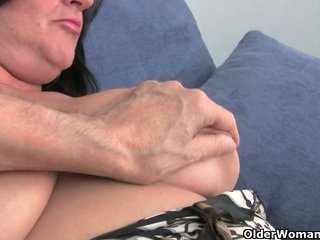 Busty soccer milf needs to get off (co...