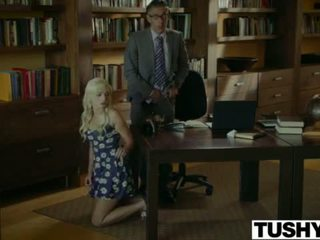 Tushy.com палав блондинки анално прецака от тя therapist <span class=duration>- 12 min</span>