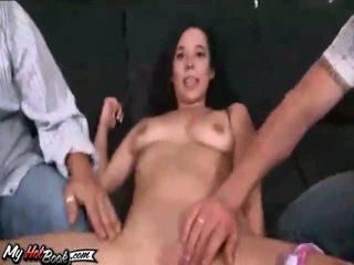 brunette, dobbel penetrasjon, anal