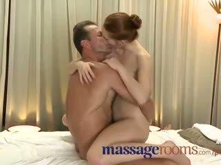 Masáž rooms incredible mladý žena serviced potom creampie