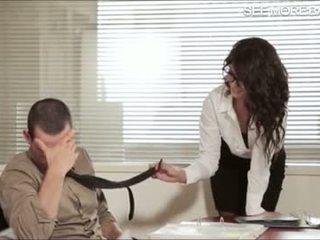 Vakker kontor jente alexa tomas screwed