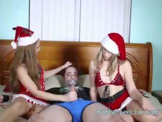Adolescentes kimber lee & ashlynn taylor dar navidad paja!