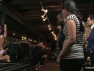 public sex, bondage sex, babe get fucked in tiits