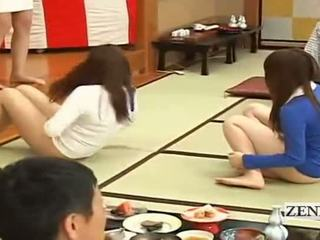 Subtitled bottomless japonesa embarrassing grupo juego