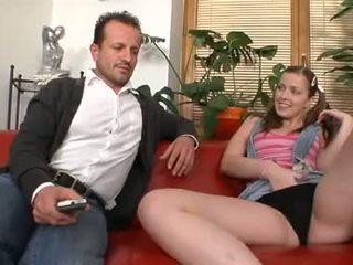 Abigaile fucks daddy's frind