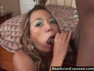 Realasianexposed - Asian Cutie Keeani Lei Gags on Massive Black Cock