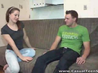 Casual Teen Sex Teeny doesnt wanna wait for sex