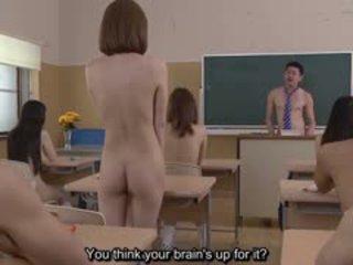 Subtitled uncensored jaapani nudist kool pop- quiz