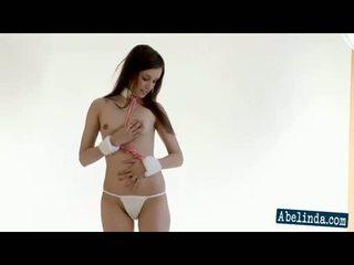 striptease, brünetten