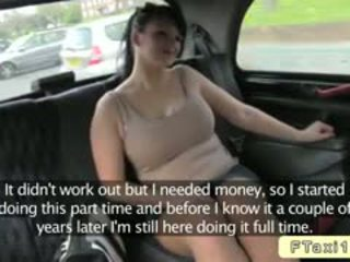 Busty British Amateur Bangs Fake Taxi Driver In Public