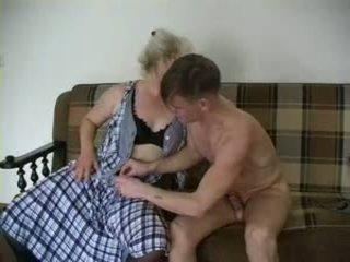 Sexy grandma Lena and Alex