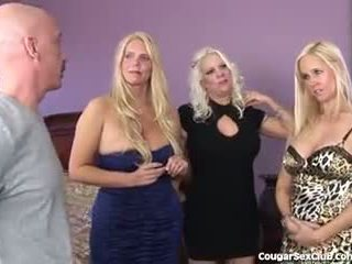 3 Hot Blonde MILFs Have Full Hardcore Orgy