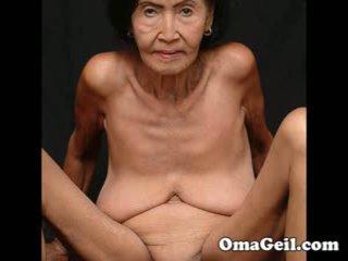 Omageil grande coleção velho grannies e senior mulher