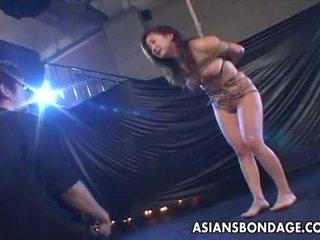 Budak, dominasi, sadism, masochism rumaja gets tied up and she gets waxed