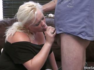 She Leaves and He Cheats with Blonde Plumper: Free Porn 0d