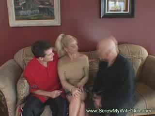 Blondýna milfka manželka mrs. warren je analized ťažký