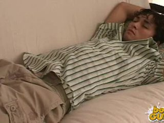 Cute College Boy Undressed While Sleeping.