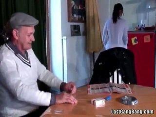 Moshë e pjekur franceze sult tries adoleshent pidh