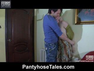 hardcore sexo, maria, meia-calça