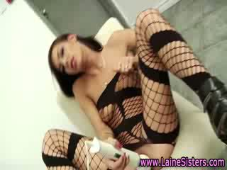 Sisters Shana and Roxy Lane hard fuck action