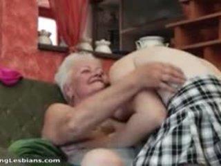 Nadržané stará mama having nadržané sex