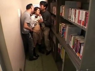 Schoolgirls elläp tanamak by perverts in schoollibrary 7