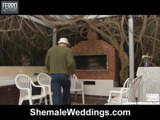 Quente shemale weddings cena starring senna, rabeche, alessandra