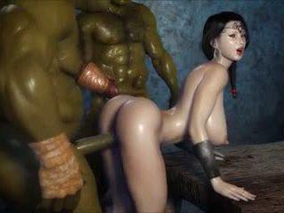 2 geants baisent une jolie fille, vapaa porno 3c