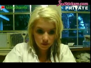 Blondy on webcam at home part13