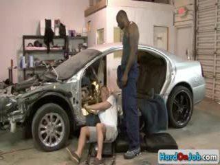 Car Mechanic Sucking Giant Darksomesome Dick By Hardonjob