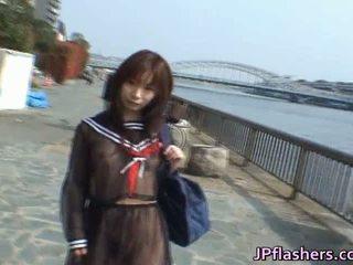 Mikan caldi asiatico modella likes flashing suo