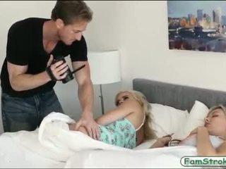 Stepdad licked dan kacau dia two blondie stepdaughters